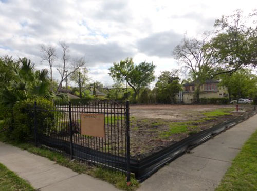 Vacant Lot at 411 Lovett Blvd., Former Site of Bullock-City Federation Mansion, Montrose, Houston