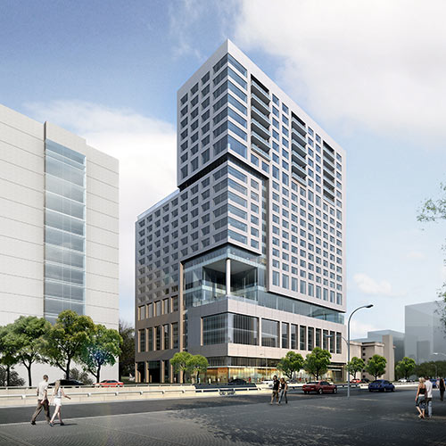 Proposed Hotel and Apartment Tower at 6750 S. Main St., Texas Medical Center, Houston