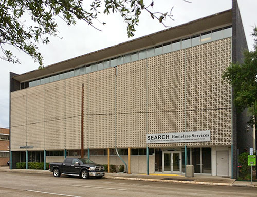 Damage to Search Homeless Services Building, 2505 Fannin St., Midtown, Houston