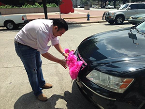 Lyft Driver Outside City Hall, Houston