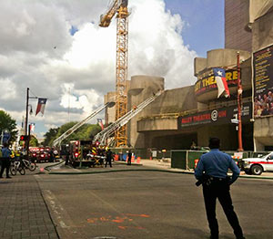 Fire at Alley Theatre, 615 Texas Ave., Downtown Houston