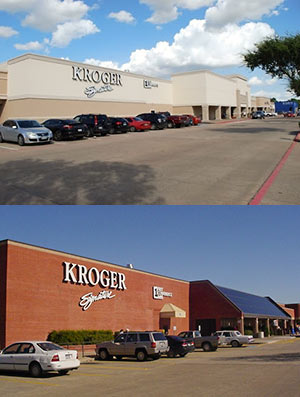 Before and After Renovation Views of Easton Commons Shopping Center, Northeast Corner of Hwy. 6 and West Rd., Copperfield, Houston