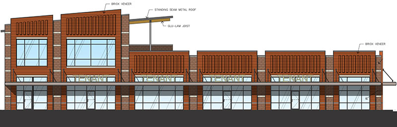 Proposed West Gray Plaza Strip Center, 504 W. Gray St., North Montrose, Houston